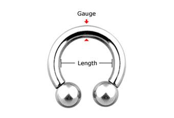 Circular Barbell Jewellery