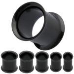 PiercedOff-Black-Titanium-Double-Flared-Flesh-Tunnel-8GA-32mm-B00F7KNO0Q