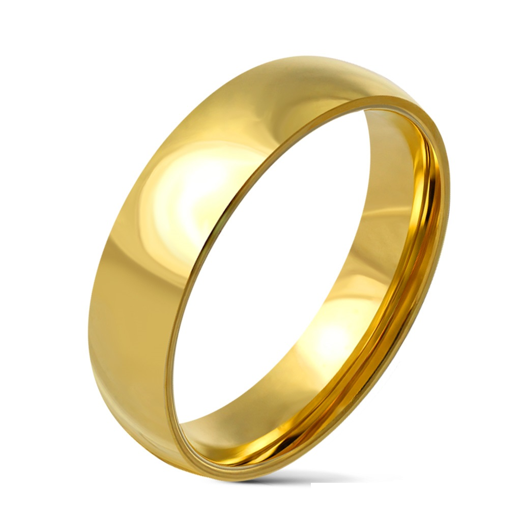 It is just a picture of PiercedOff Glossy Mirror Polished 42mm Wide Gold IP Traditional Wedding Band Ring